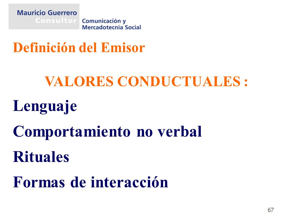VALORES CONDUCTUALES :