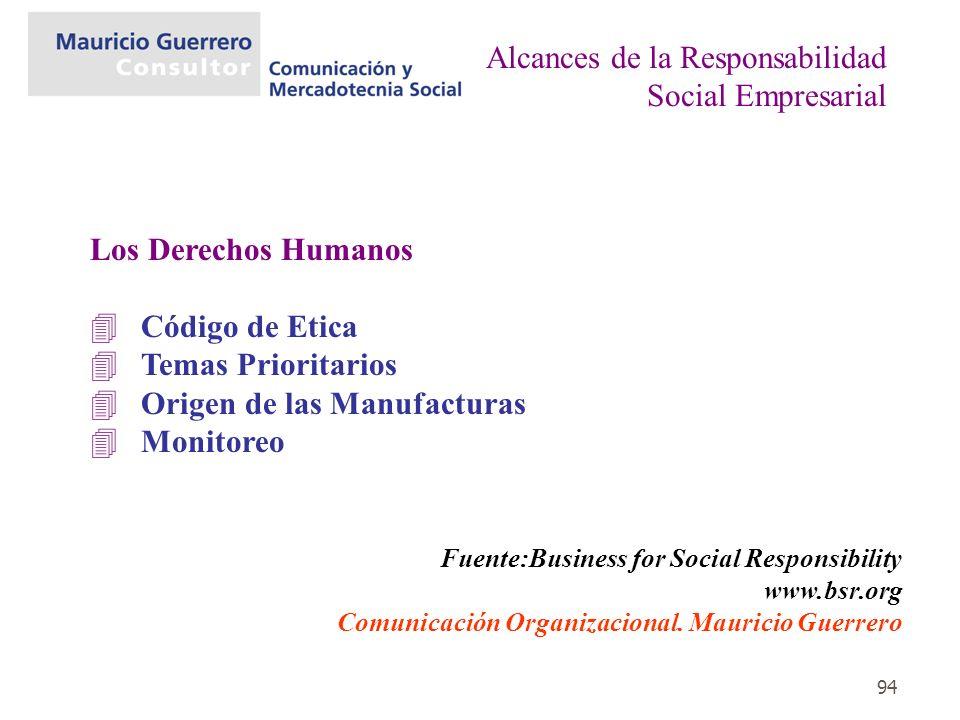 Alcances de la Responsabilidad Social Empresarial