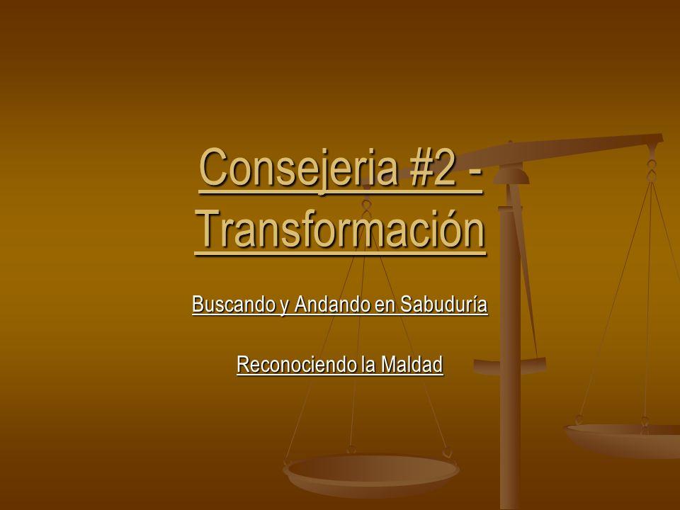 Consejeria #2 - Transformación