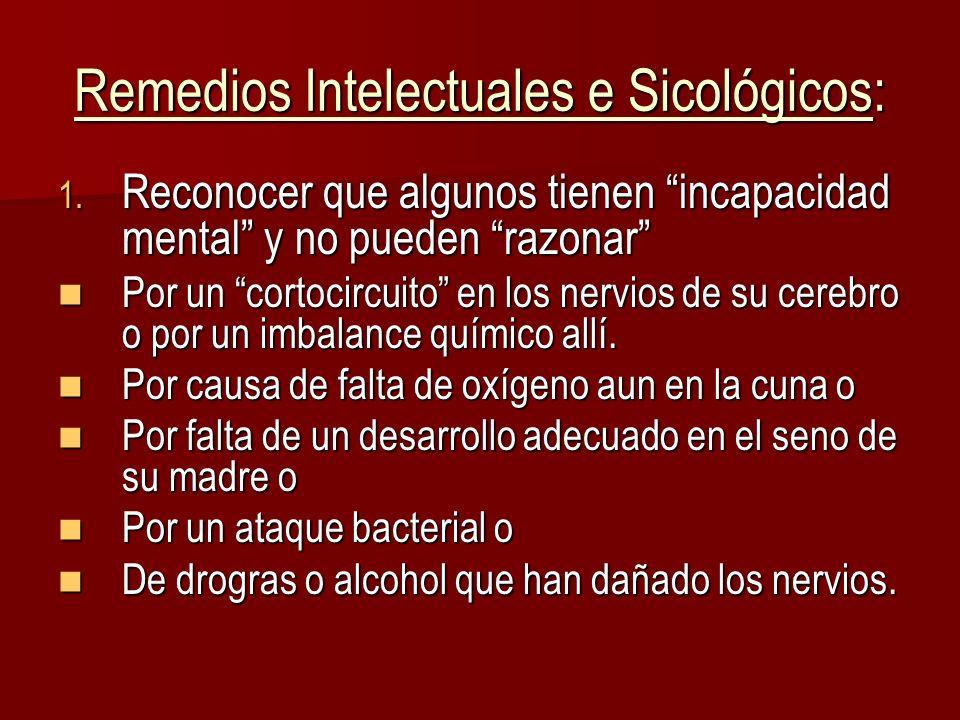 Remedios Intelectuales e Sicológicos: