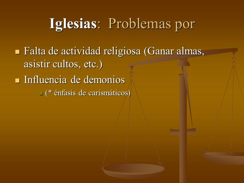 Iglesias: Problemas por