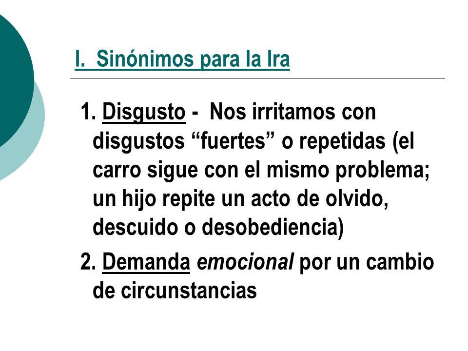 2. Demanda emocional por un cambio de circunstancias