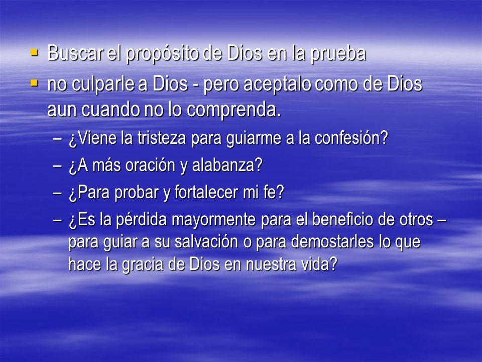 Buscar el propósito de Dios en la prueba
