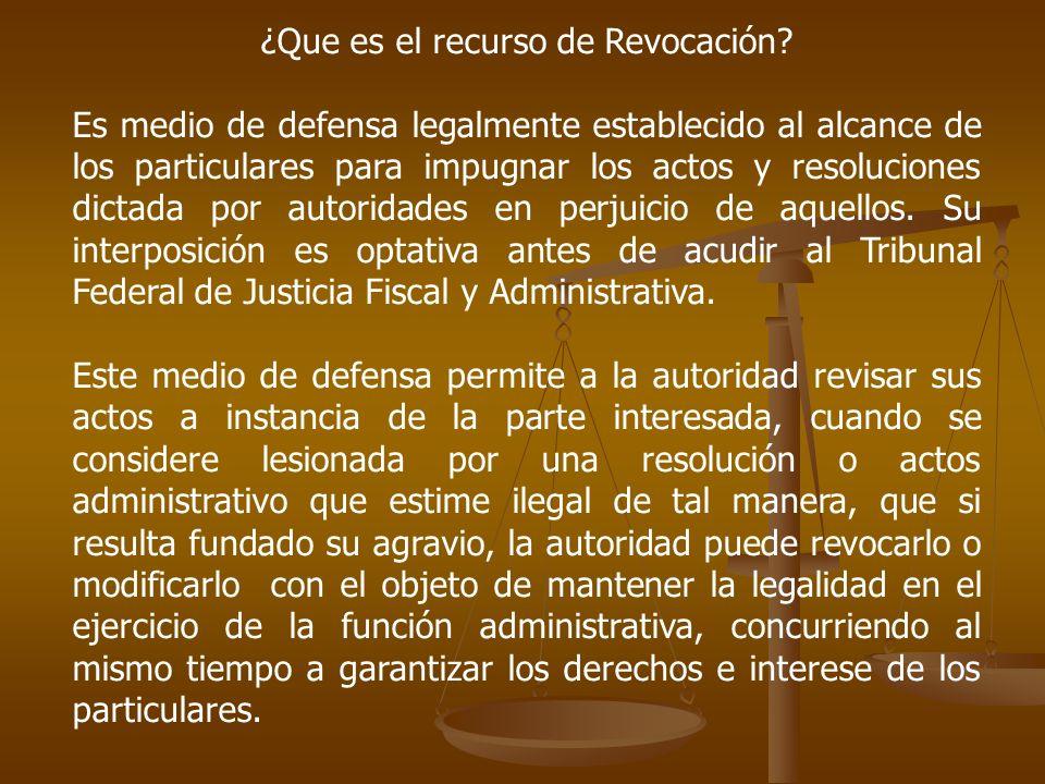 ¿Que es el recurso de Revocación