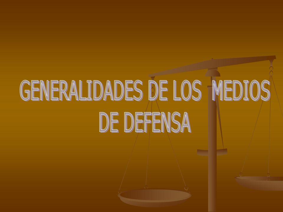 GENERALIDADES DE LOS MEDIOS
