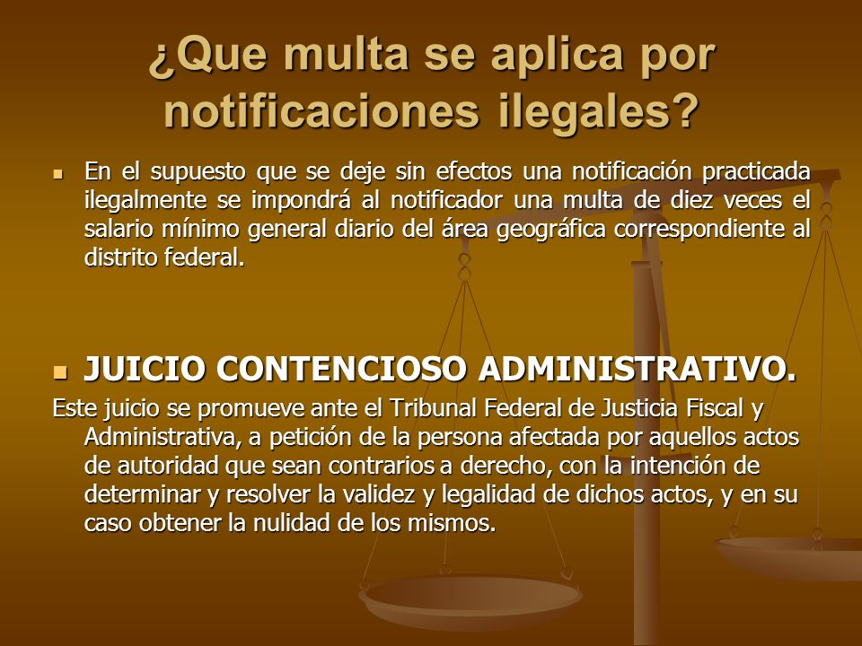 ¿Que multa se aplica por notificaciones ilegales