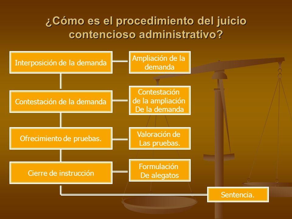 ¿Cómo es el procedimiento del juicio contencioso administrativo