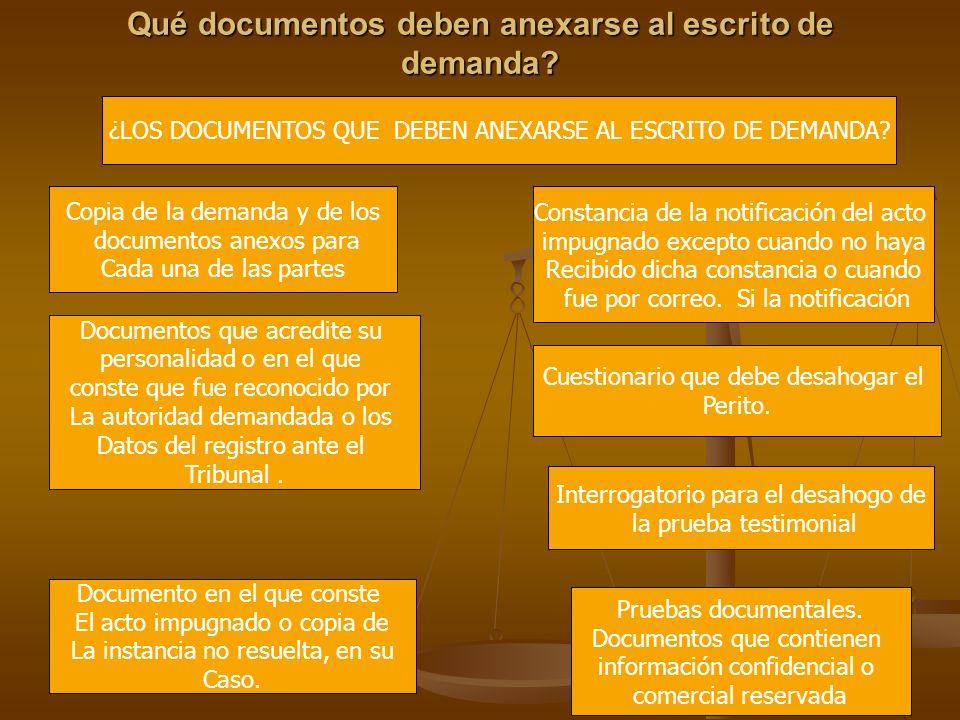 Qué documentos deben anexarse al escrito de demanda