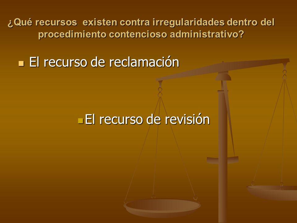 El recurso de reclamación