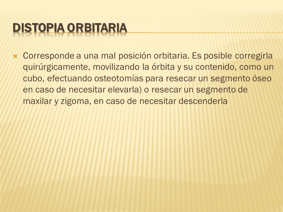DISTOPIA ORBITARIA