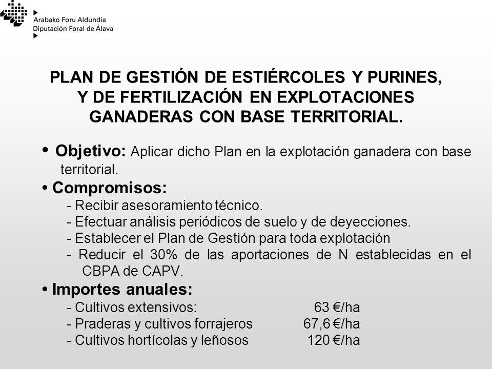 23/03/2017 PLAN DE GESTIÓN DE ESTIÉRCOLES Y PURINES, Y DE FERTILIZACIÓN EN EXPLOTACIONES GANADERAS CON BASE TERRITORIAL.