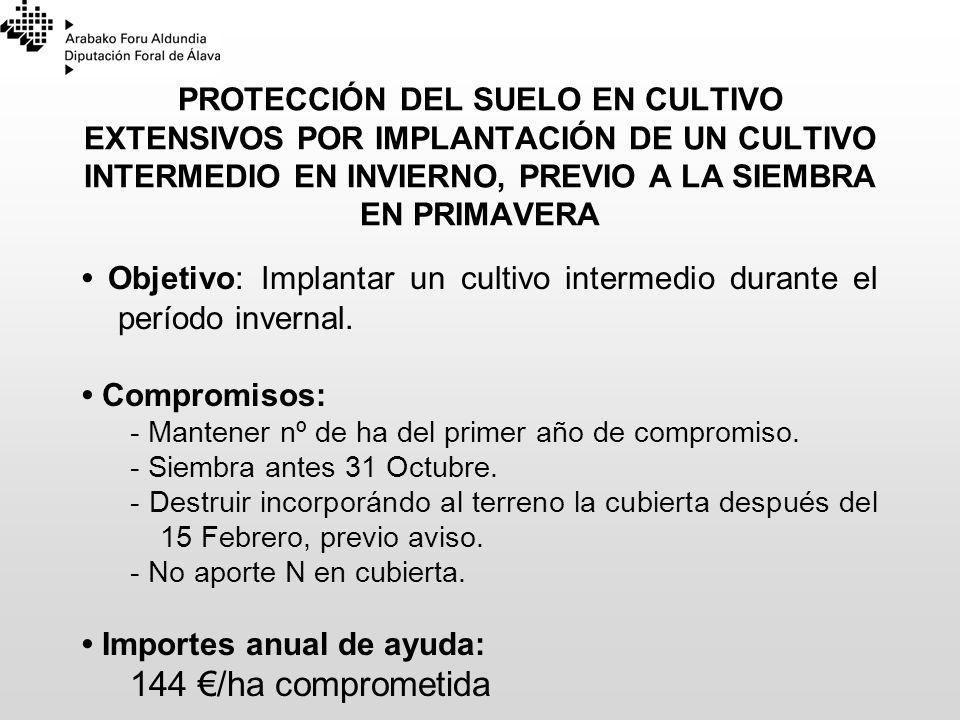 23/03/2017PROTECCIÓN DEL SUELO EN CULTIVO EXTENSIVOS POR IMPLANTACIÓN DE UN CULTIVO INTERMEDIO EN INVIERNO, PREVIO A LA SIEMBRA EN PRIMAVERA.