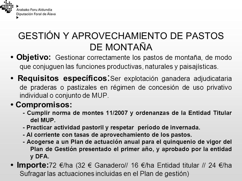 GESTIÓN Y APROVECHAMIENTO DE PASTOS DE MONTAÑA