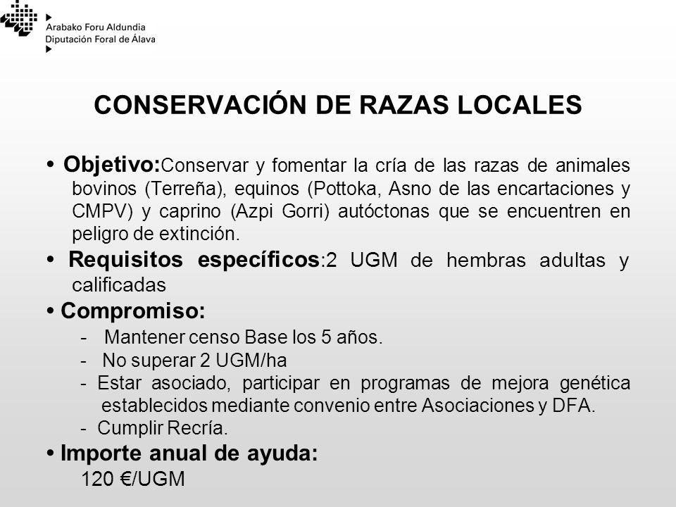 CONSERVACIÓN DE RAZAS LOCALES