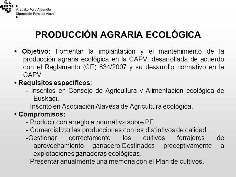 PRODUCCIÓN AGRARIA ECOLÓGICA