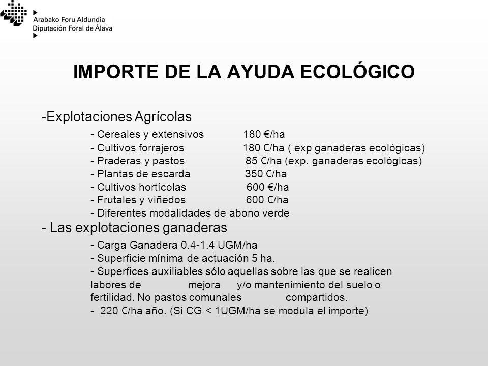 IMPORTE DE LA AYUDA ECOLÓGICO