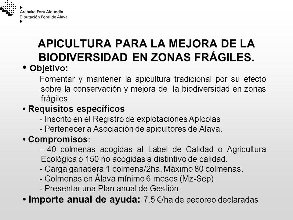 APICULTURA PARA LA MEJORA DE LA BIODIVERSIDAD EN ZONAS FRÁGILES.