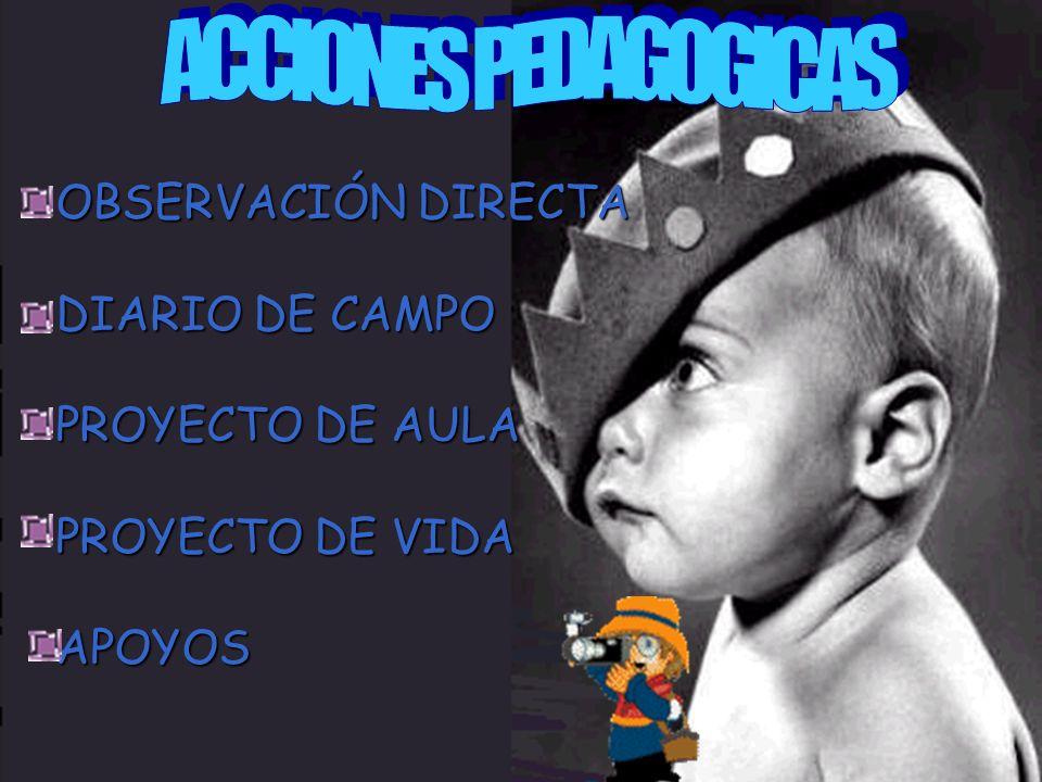 ACCIONES PEDAGOGICAS OBSERVACIÓN DIRECTA DIARIO DE CAMPO