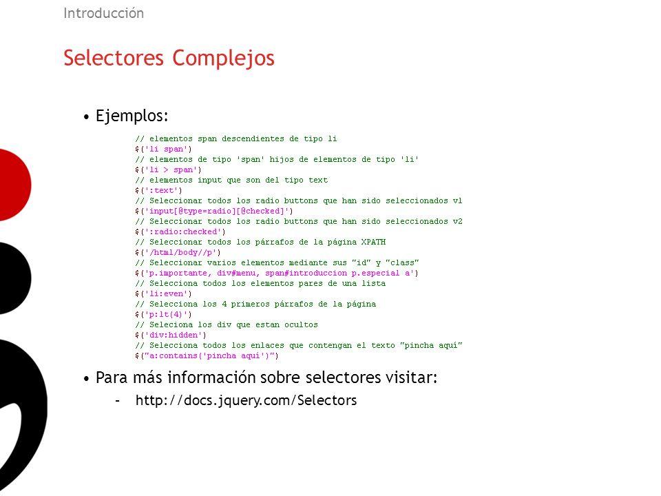 Selectores Complejos Ejemplos: