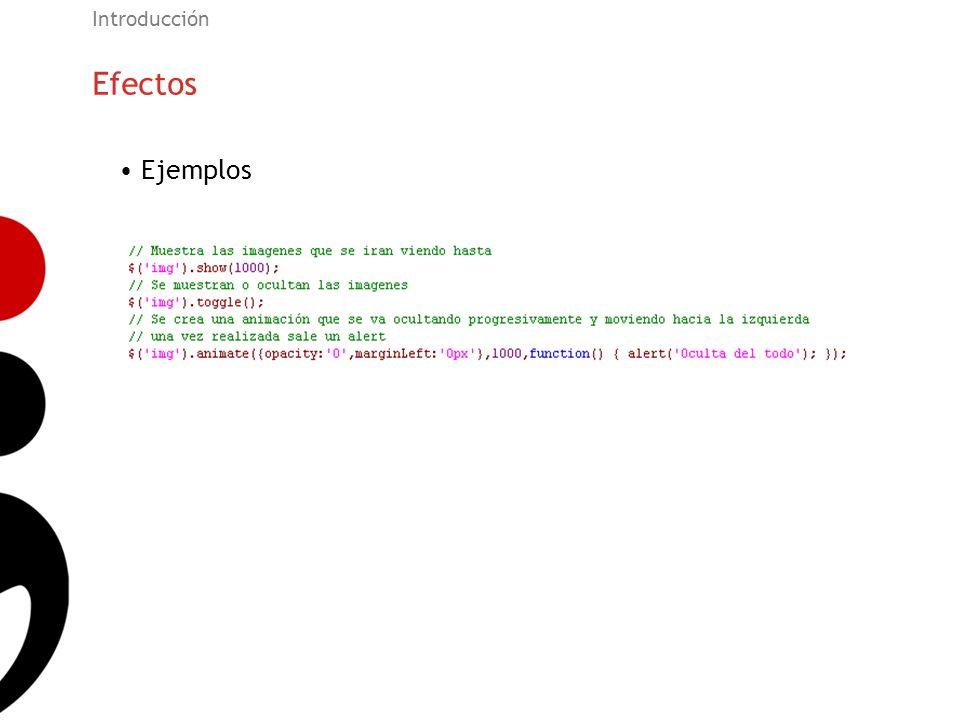 Introducción Efectos Ejemplos 26
