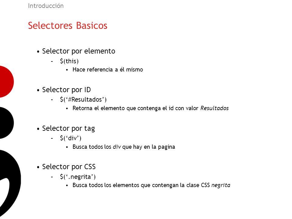 Selectores Basicos Selector por elemento Selector por ID