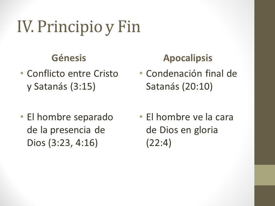 IV. Principio y Fin Génesis Apocalipsis