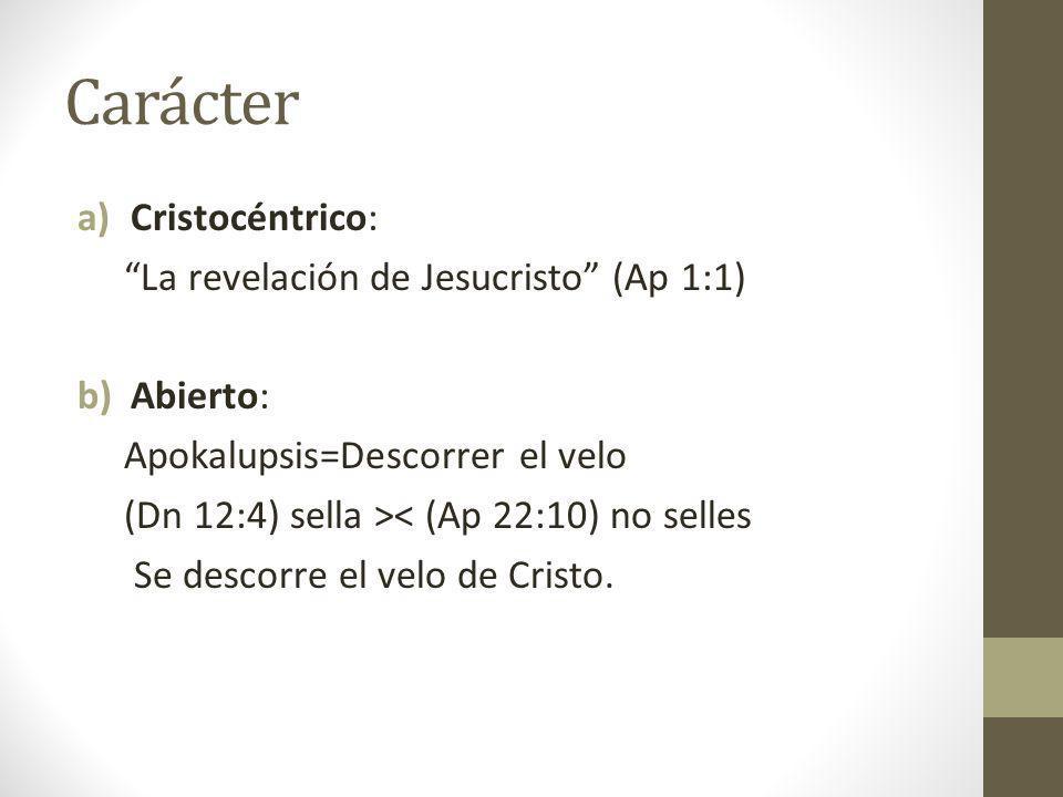 Carácter Cristocéntrico: La revelación de Jesucristo (Ap 1:1)