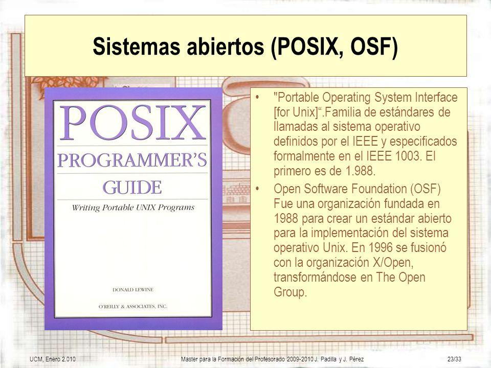 Sistemas abiertos (POSIX, OSF)