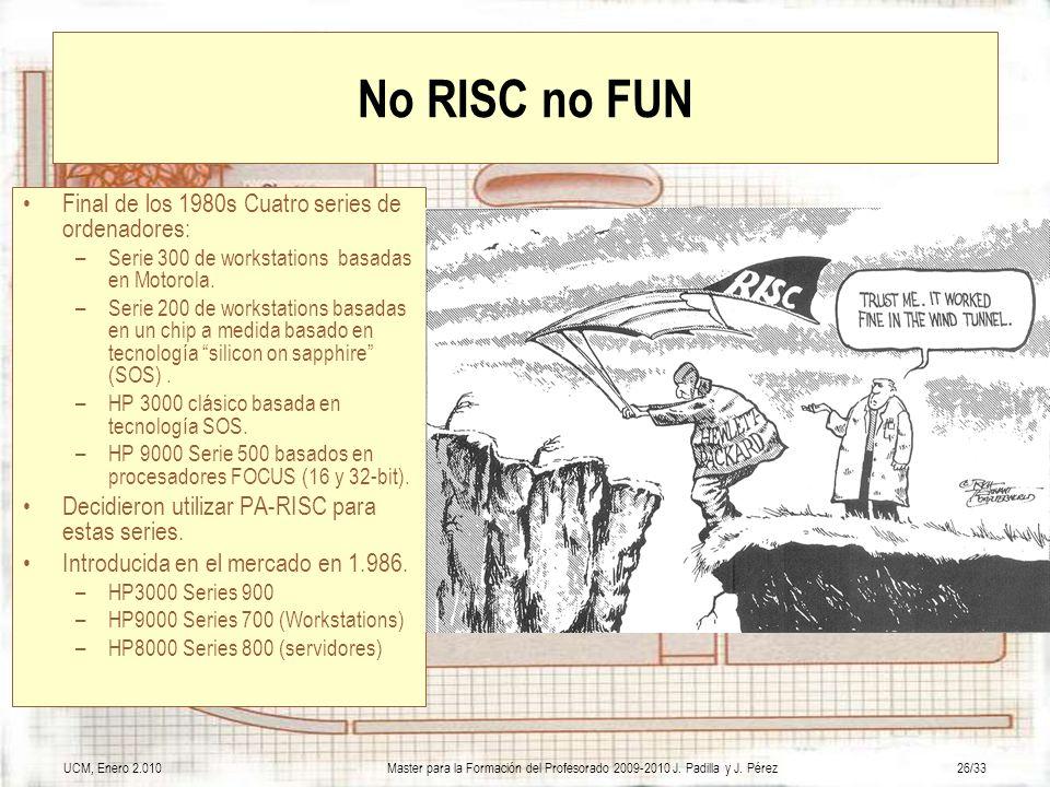 No RISC no FUN Final de los 1980s Cuatro series de ordenadores: