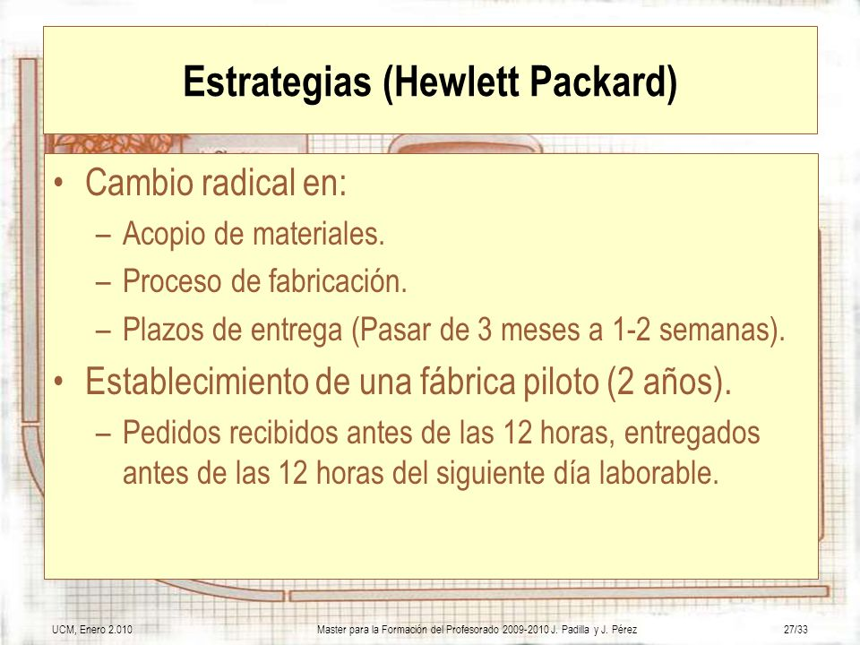 Estrategias (Hewlett Packard)
