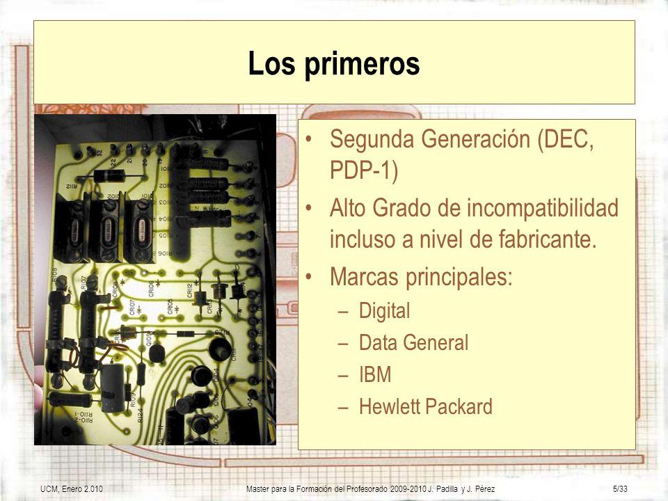 Los primeros Segunda Generación (DEC, PDP-1)