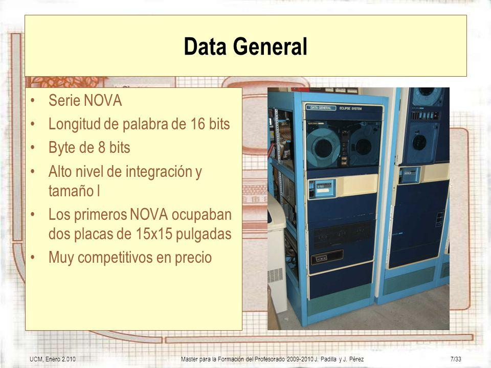 Data General Serie NOVA Longitud de palabra de 16 bits Byte de 8 bits
