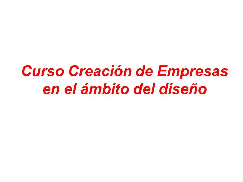 Curso Creación de Empresas en el ámbito del diseño