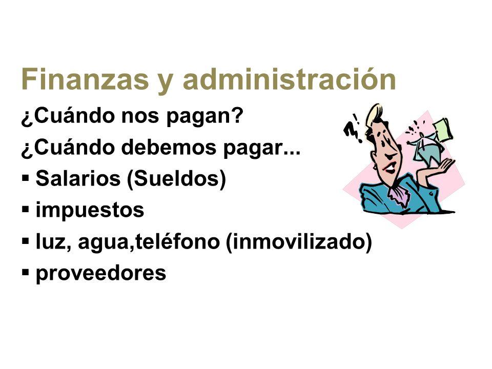 Finanzas y administración