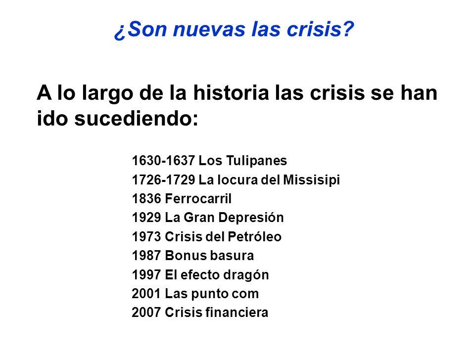 A lo largo de la historia las crisis se han ido sucediendo: