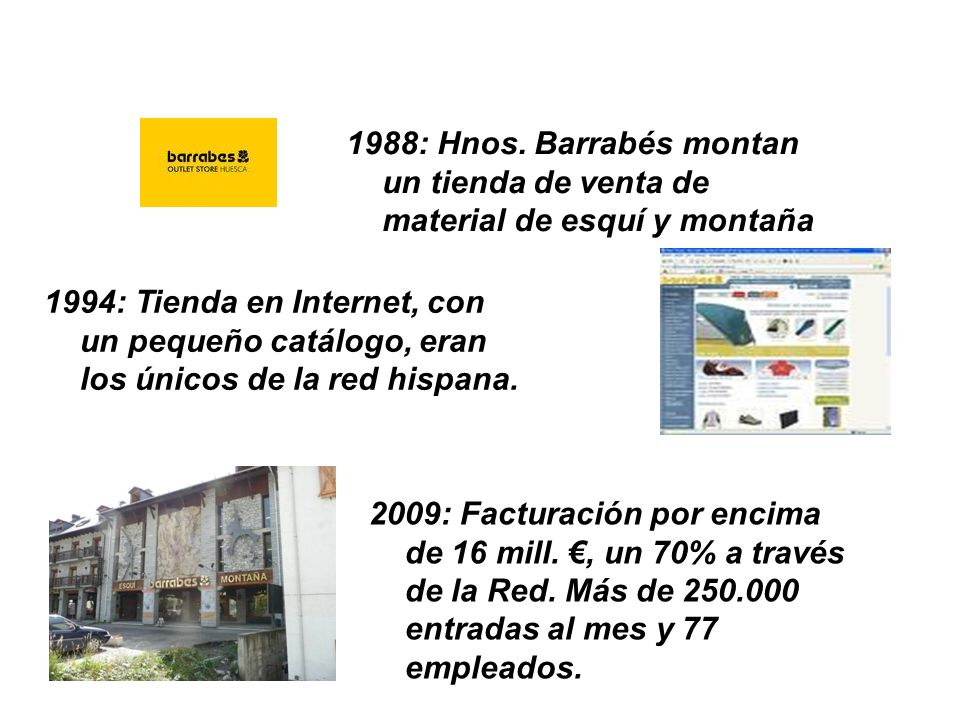 1988: Hnos. Barrabés montan un tienda de venta de material de esquí y montaña