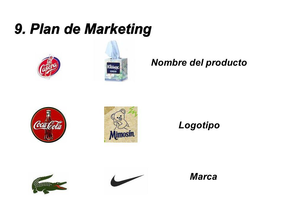 9. Plan de Marketing Nombre del producto Logotipo Marca