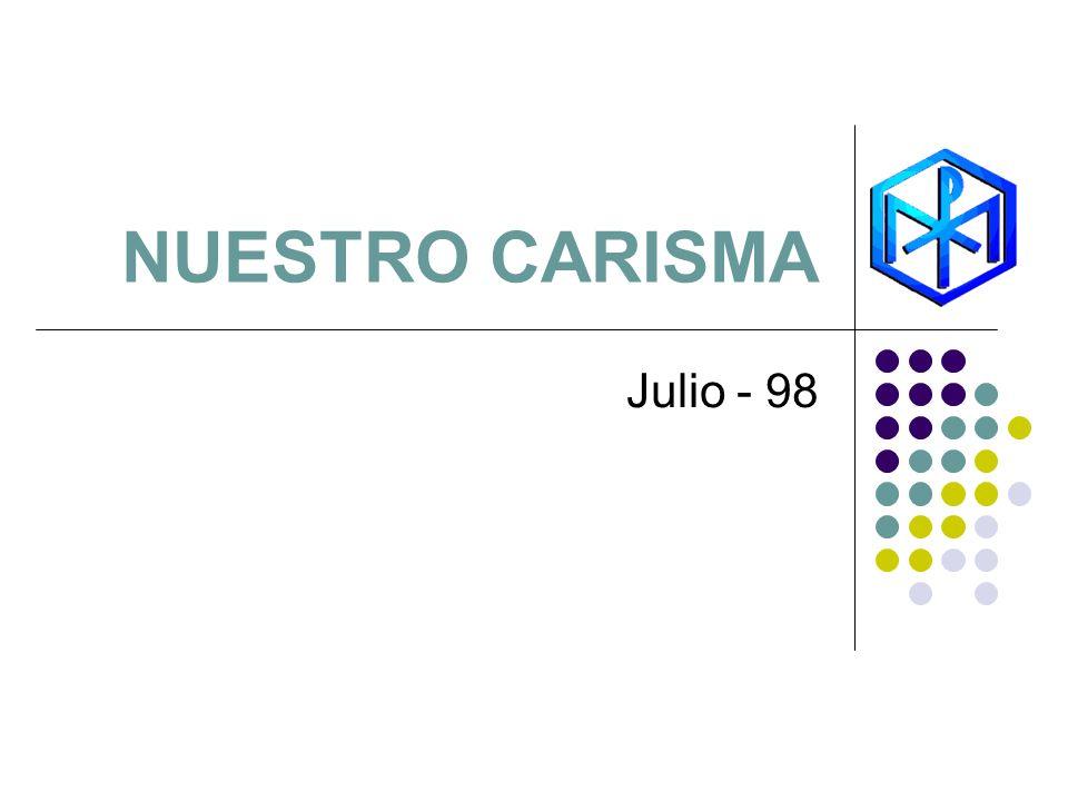 NUESTRO CARISMA Julio - 98