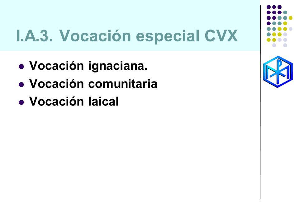 I.A.3. Vocación especial CVX