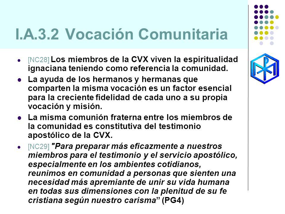 I.A.3.2 Vocación Comunitaria