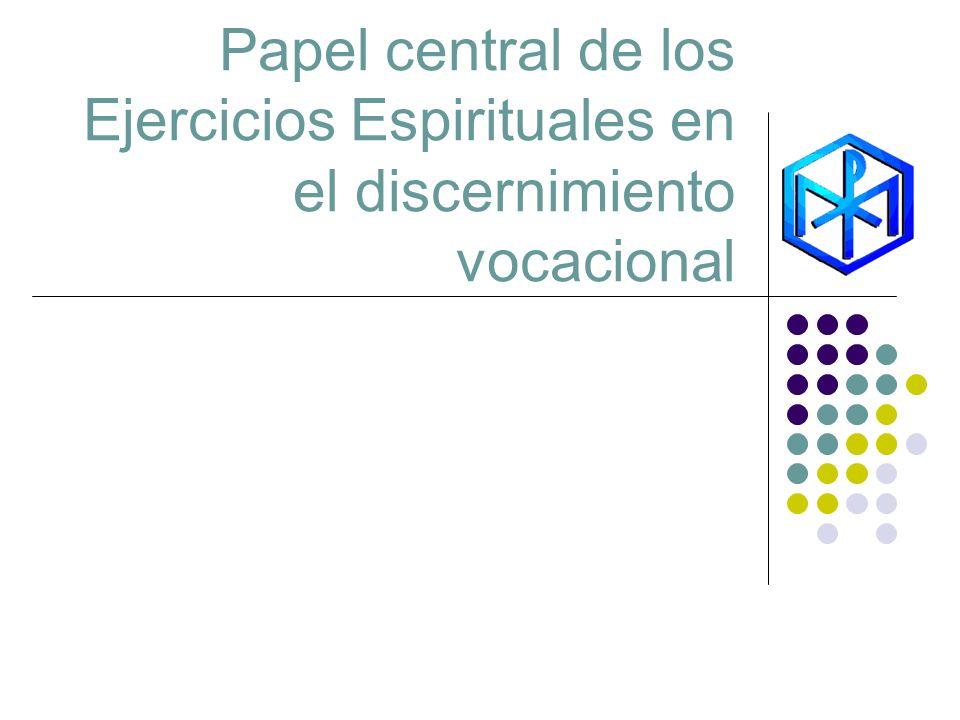 Papel central de los Ejercicios Espirituales en el discernimiento vocacional