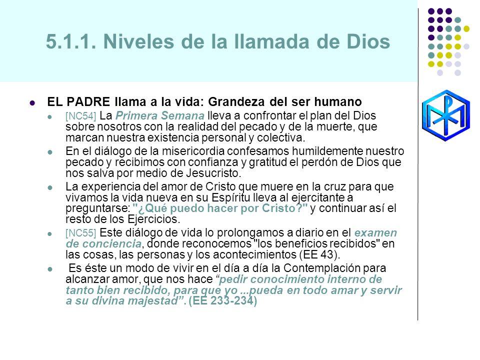 5.1.1. Niveles de la llamada de Dios