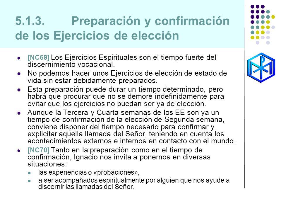 5.1.3. Preparación y confirmación de los Ejercicios de elección