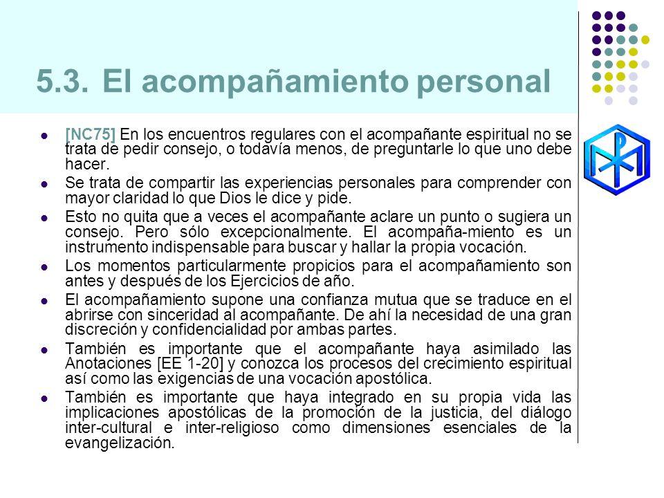 5.3. El acompañamiento personal