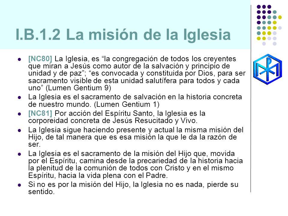 I.B.1.2 La misión de la Iglesia