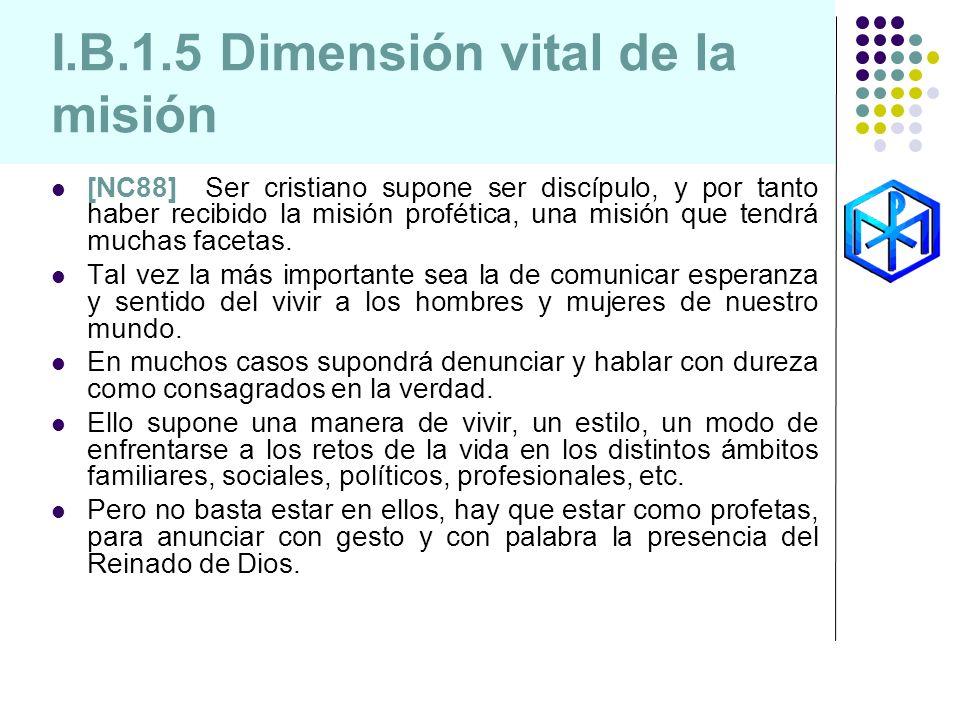 I.B.1.5 Dimensión vital de la misión