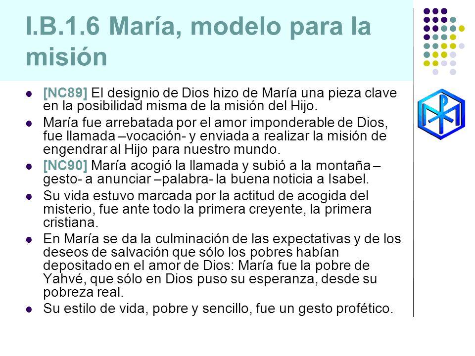 I.B.1.6 María, modelo para la misión