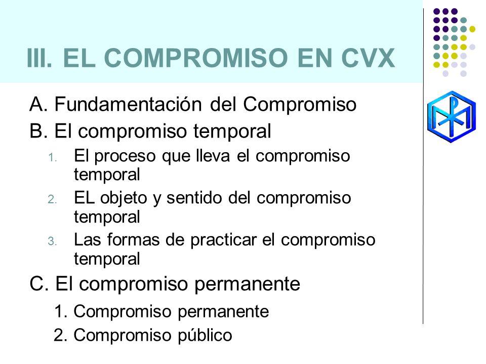 III. EL COMPROMISO EN CVX