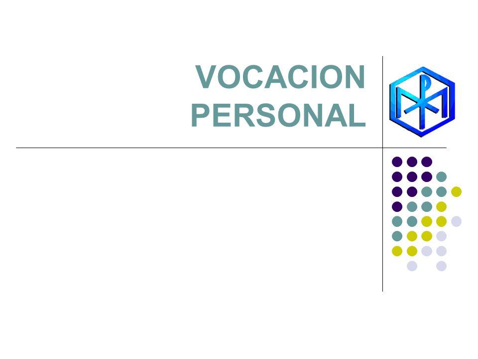 VOCACION PERSONAL