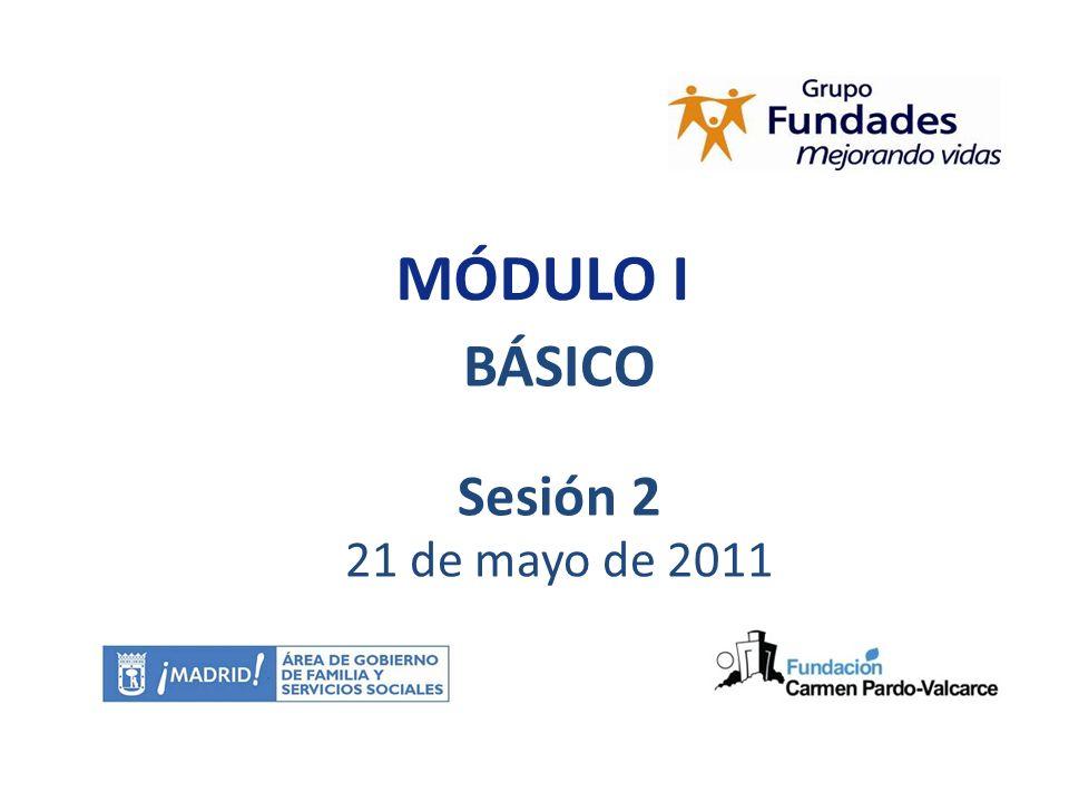 08/05/2010 MÓDULO I BÁSICO Sesión 2 21 de mayo de 2011